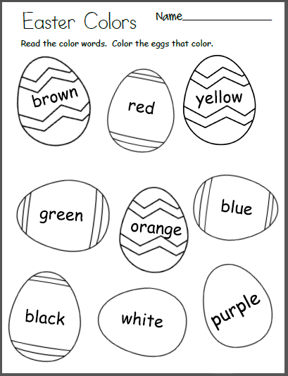 Easter Kindergarten Worksheets Holiday Coloring Pages