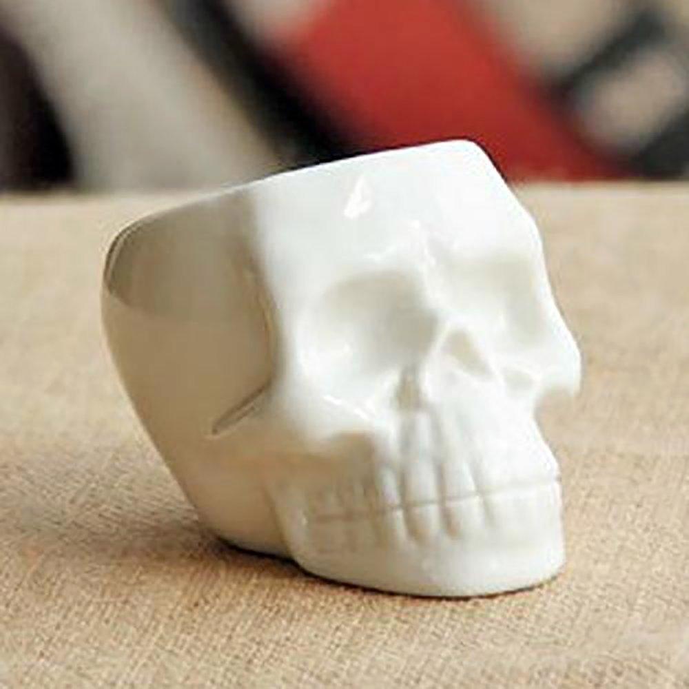 Succulent Plant Pots White Mini Skull Design Ceramic Smile Desktop Decoration Diy Ceramic Succulent Ceramic Succulent Pots Succulent Pots