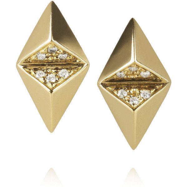 Maria Black Fine Jewelry Billy 18-karat gold diamond earrings