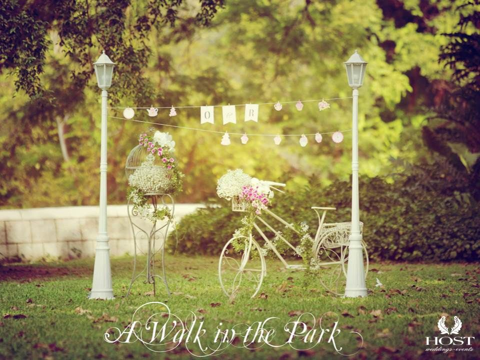 Our Lookbook for Styling Your Solemnisation Ceremony  {A Walk in the Park} Romance finds its perfect niche among the shady paths and leafy alcoves of the Parks, with Victorian lampposts and bloom-filled bikes, Stroll hand-in-hand through the gently arching branches or meet under the quirky bower of orchids and spring blooms.  Styling by our inhouse florist  Pls contact us at info@onerochester.com for more details on how to design your ROM Ceremony