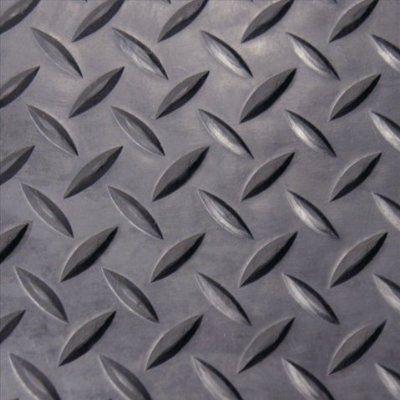 Rubber Cal Diamond Plate Rubber Flooring Rolls 1 8 Inch X 4 X 4 Feet Black Rolled Rubber Flooring Rubber Flooring Diamond Plate