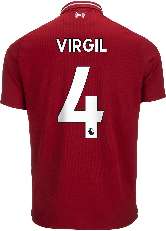 94def9d9210 2018 19 New Balance Virgil van Dijk Liverpool Home Jersey ...