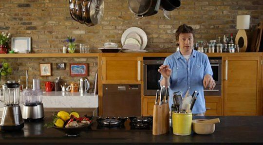 look! a peek at jamie oliver's new kitchen | kitchens, open