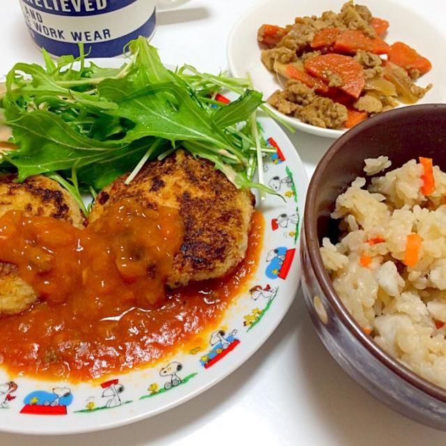 もはや芋テロだー!! - 8件のもぐもぐ - 里芋炊き込みご飯&里芋コロッケ by okoshi