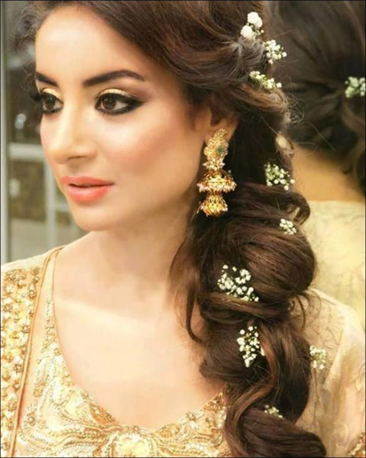 Image result for indian bridal side braid | hairstyles ...