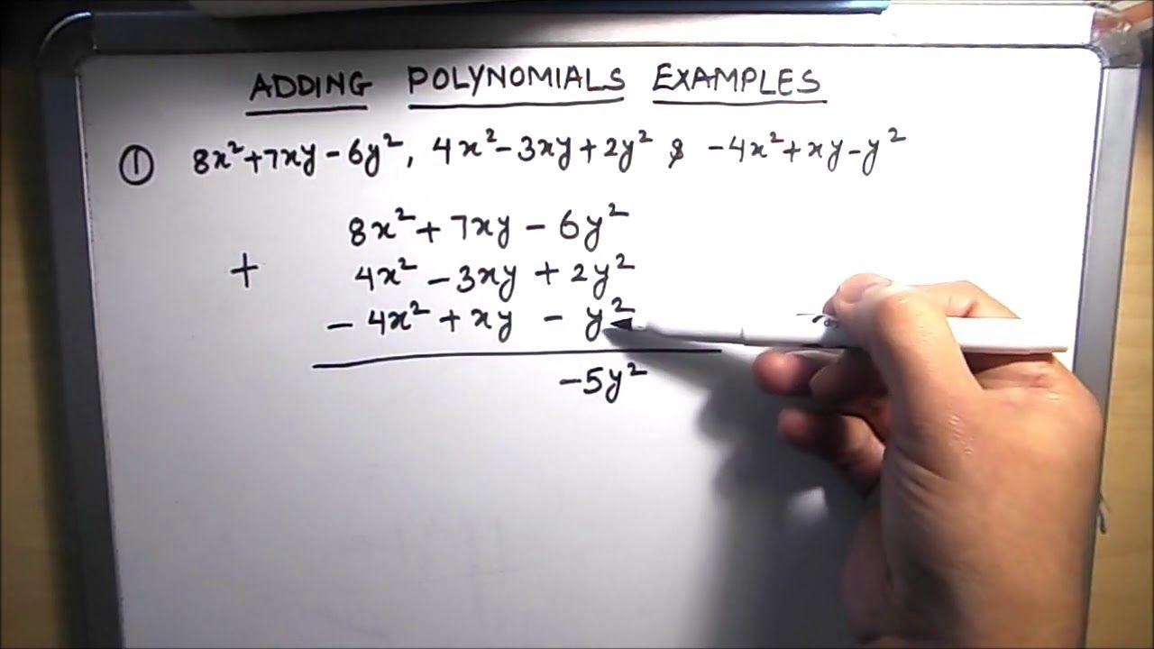 How To Add Polynomials Adding Polynomials Examples Youtube Polynomials Adding Polynomials Math Videos [ 720 x 1280 Pixel ]