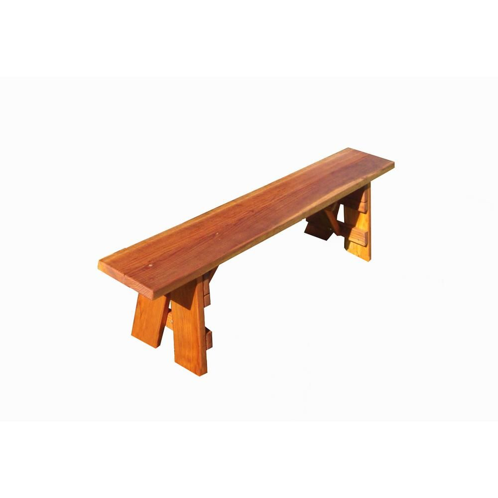 Best Redwood Outdoor 3 Ft 1905 Super Deck Redwood Picnic Bench Pbb 1711361905 The Home Depot Picnic Bench Patio Benches Memorial Benches