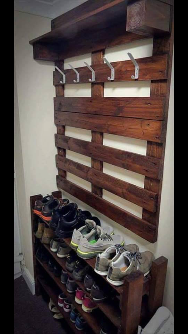 Love The Shoe Rack I Would Keep Them Beside The Garage