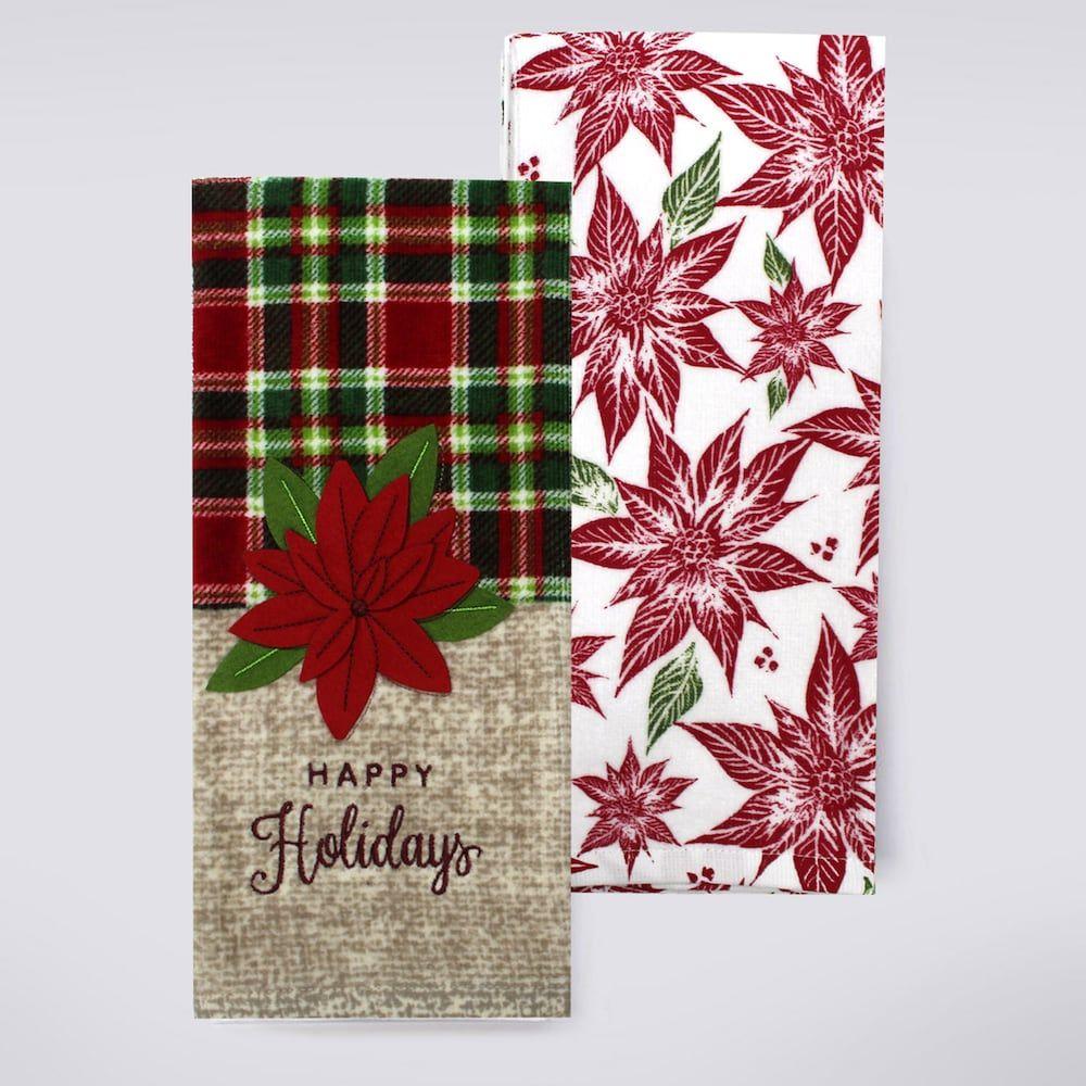 St Nicholas Square Happy Holidays Kitchen Towel 2 Pk Happy