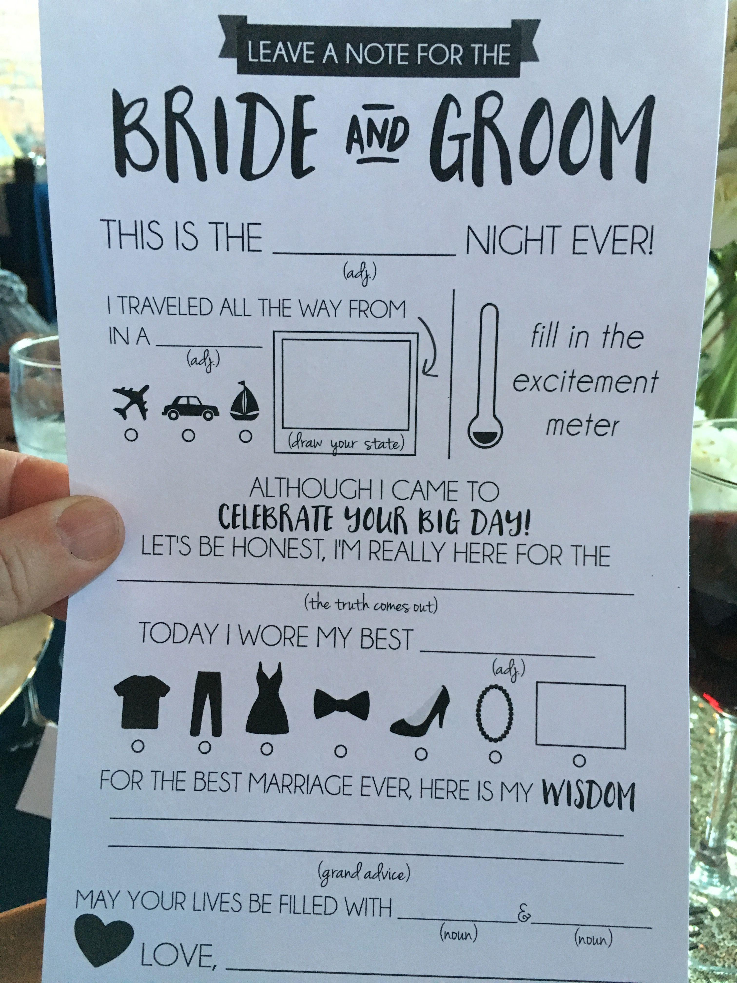 Cute Fun Wedding Mad Lib Future Wedding Plans Cute Wedding Ideas Future Wedding