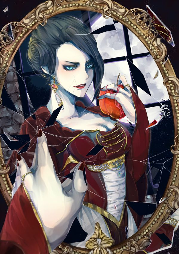 snow white and the evil queen fan art the evil queen