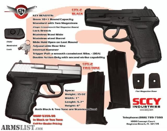 ARMSLIST - For Sale: Sccy CPX-2 9mm on sale for only $200