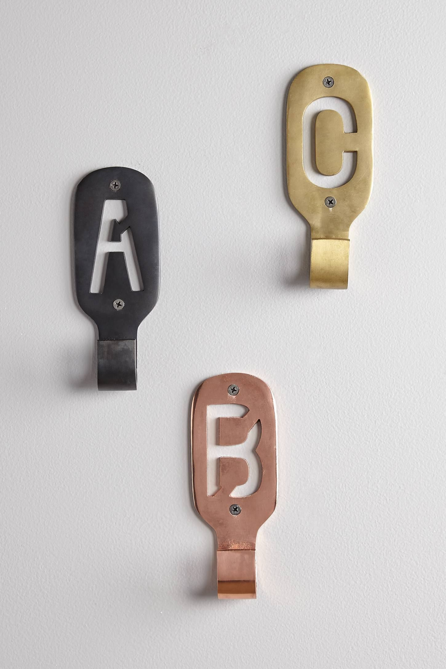 Cast Iron Monogram Hook - anthropologie.com