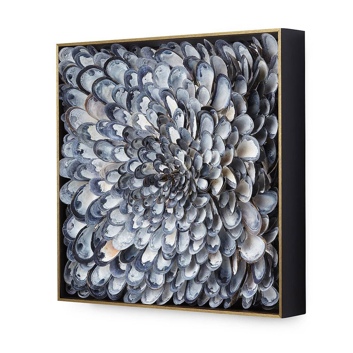 Infinite Mussels Wall Sculpture | shell art -   12 mussel shell crafts