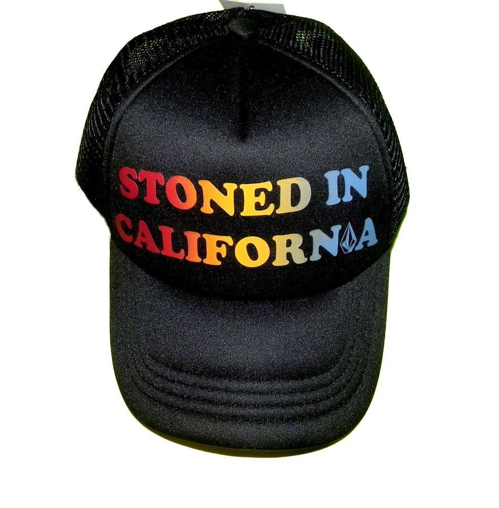 Volcom Women s Cali Stoned Snapback Trucker Hat Black New With Tags  Volcom   Trucker b81e24e1fa95