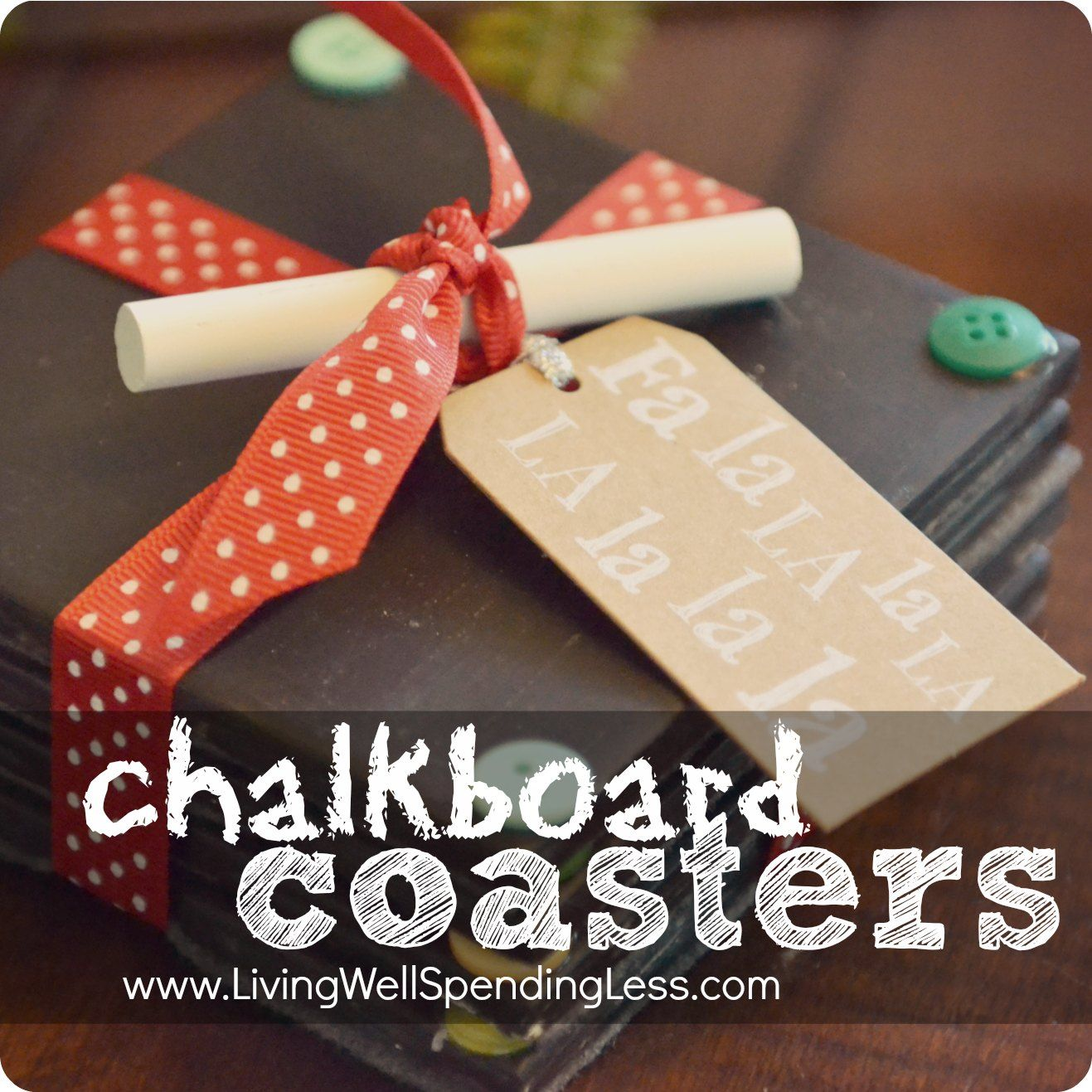 Diy chalkboard coasters diy chalkboard chalkboards and coasters diy chalkboard coasters handmade and homemade christmas gift idea solutioingenieria Choice Image