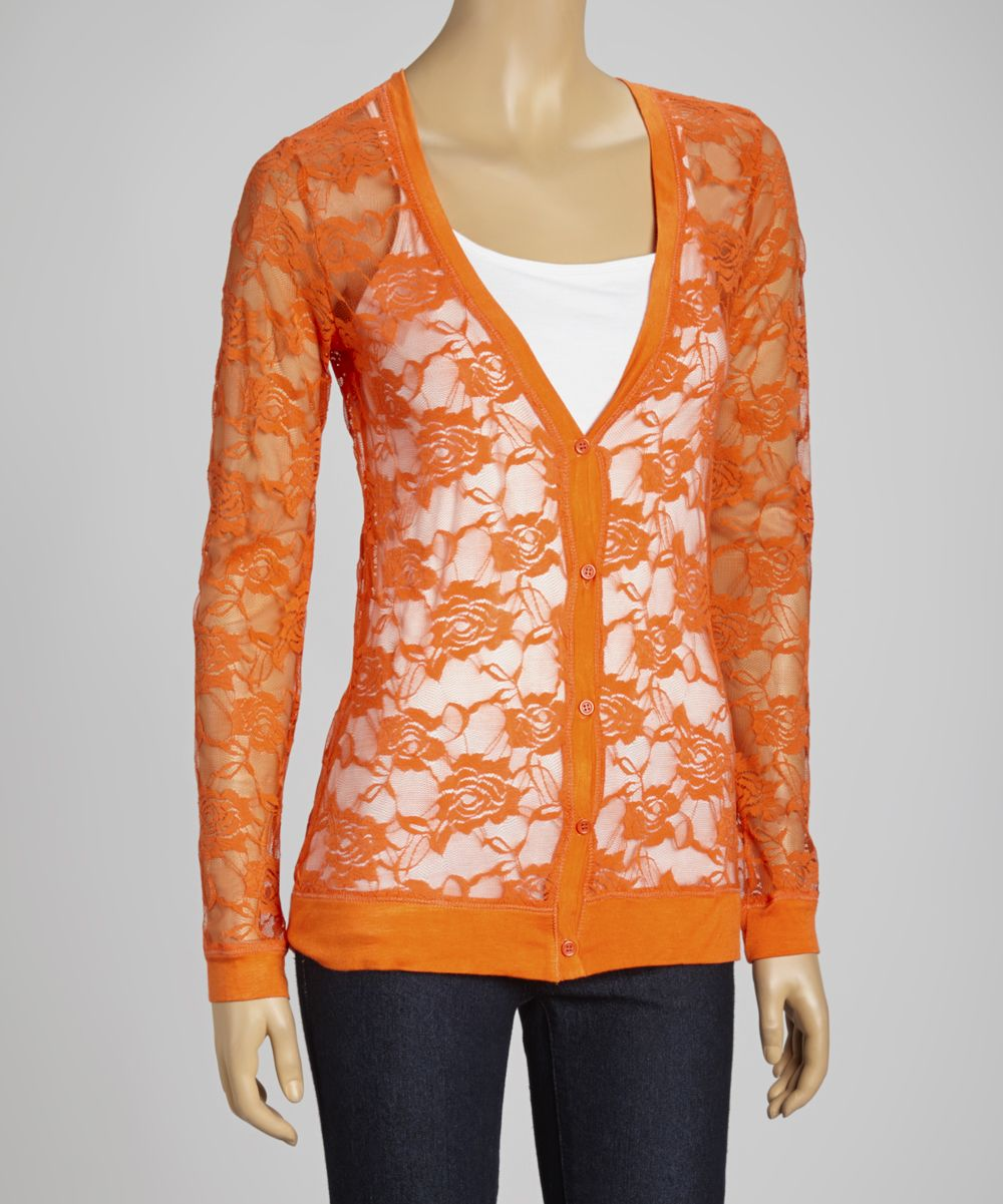 Orange Sheer Lace Cardigan | Fashion | Pinterest | Clothes, Dream ...