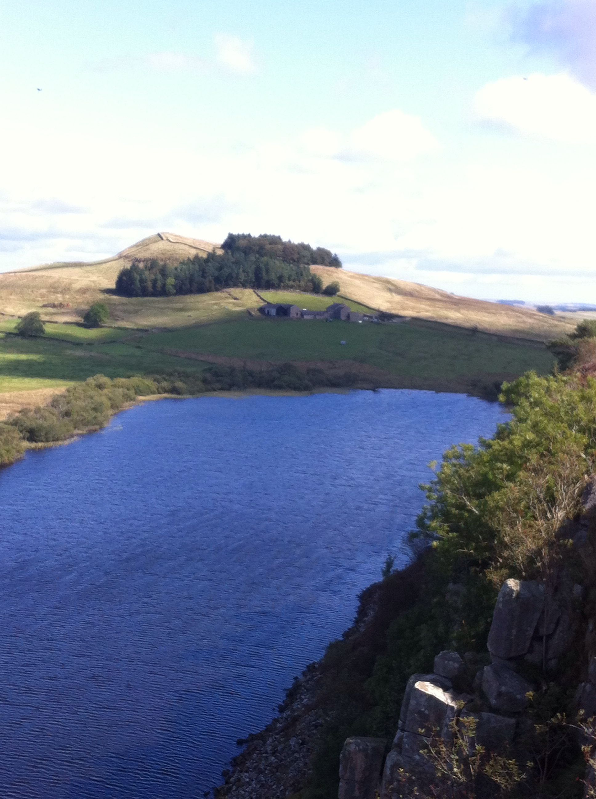 Stunning views from Hadrians Wall at once brewed point