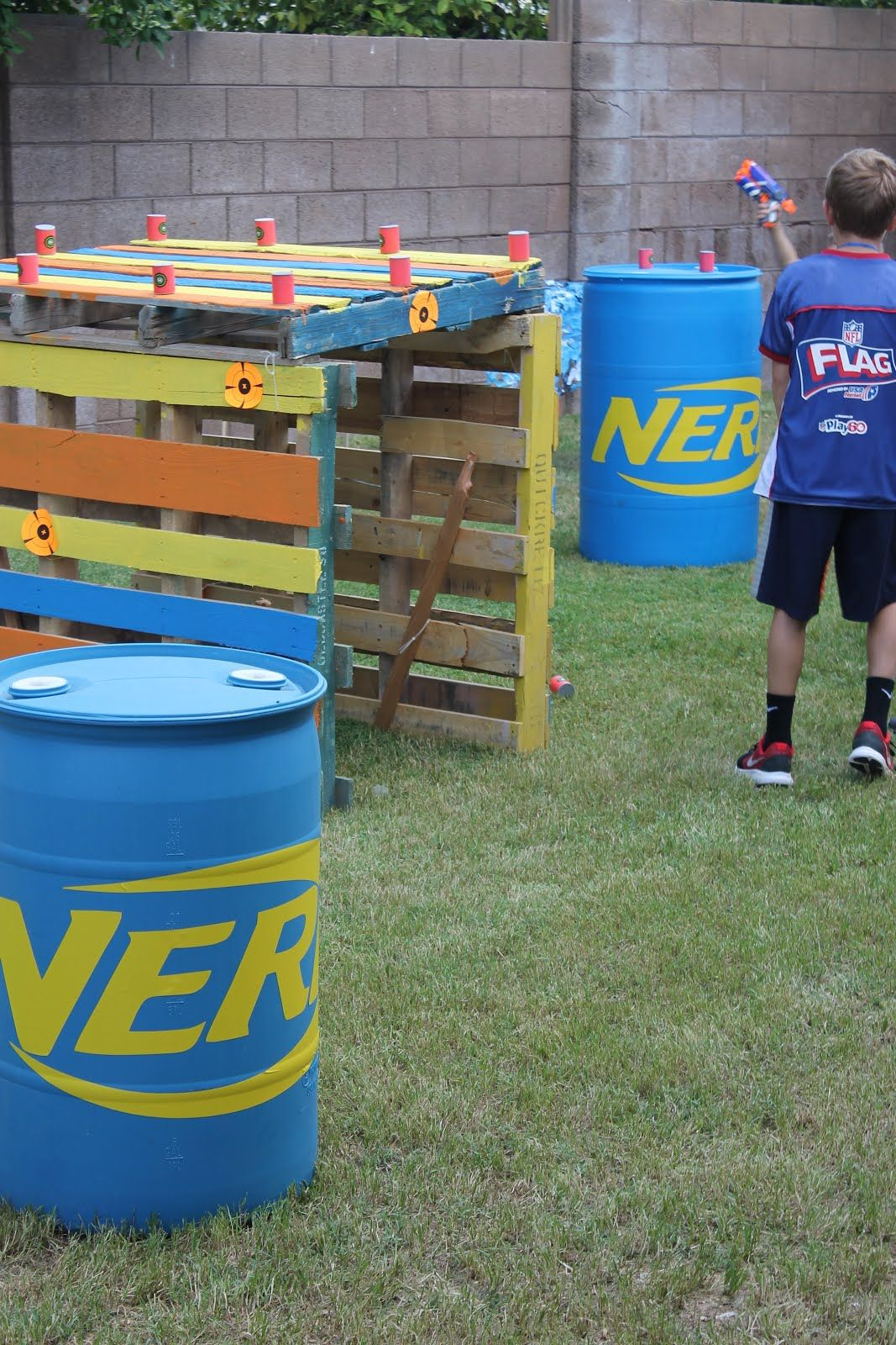 Pin On Nerf Backyard diy nerf war course