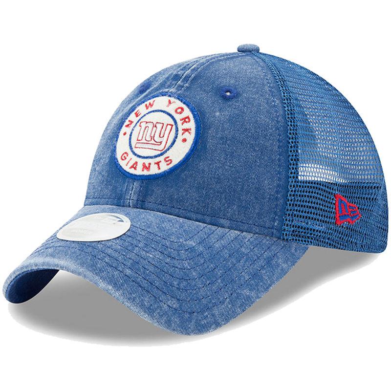the latest d655b 3c5f4 New York Giants New Era Women s Perfect Patch 9TWENTY Adjustable Snapback  Hat - Royal