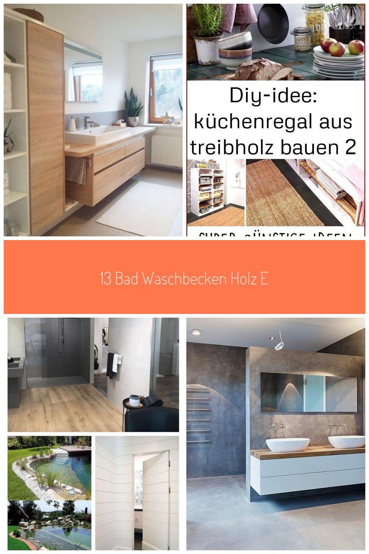 13 Bad Waschbecken Holz Eiche Betonoptik Ba Eintagamsee Holz