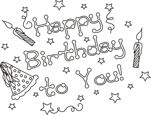 Happy Birthday Coloring Pages Christmas Coloring Sheets Merry