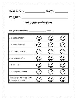 Student Peer Evaluation  Common Core    Students