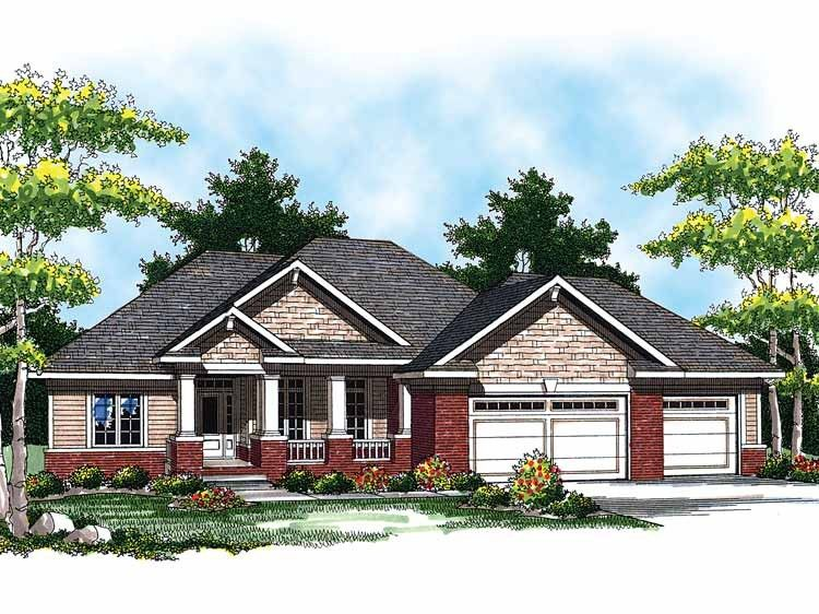 Traditional Style House Plan 3 Beds 1 5 Baths 1694 Sq Ft Plan 70 862 Ranch House Designs Ranch Style House Plans Ranch House Plans