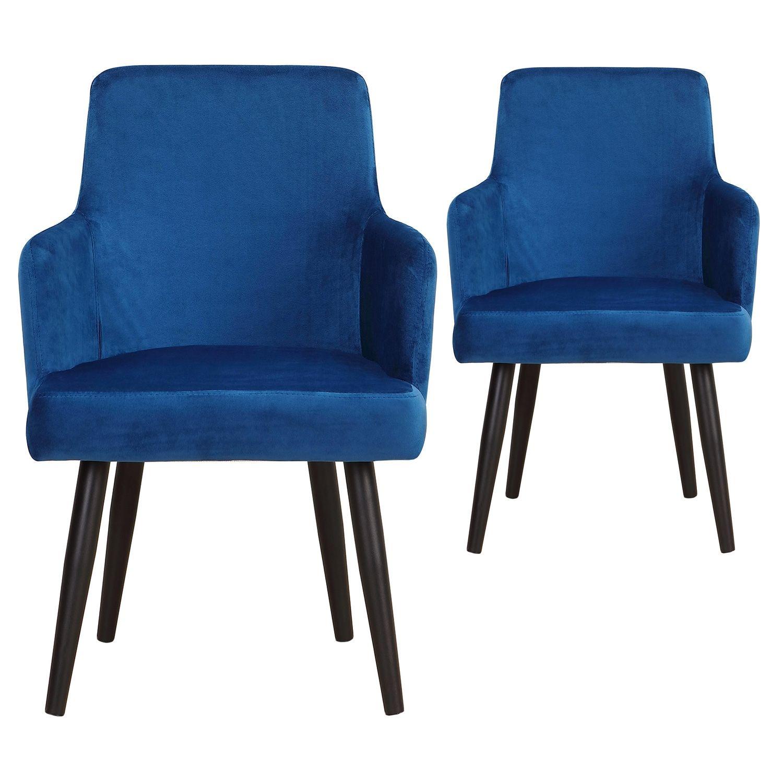 Lot De 2 Fauteuils Neiva Velours Bleu En 2020 Fauteuil Velours Velours Bleu Et Fauteuil Confortable