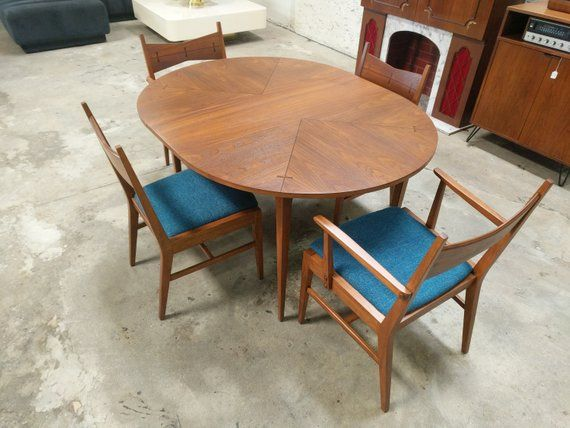 Terrific Mid Century Refinished And Reupholstered Tuxedo Dining Set Bralicious Painted Fabric Chair Ideas Braliciousco