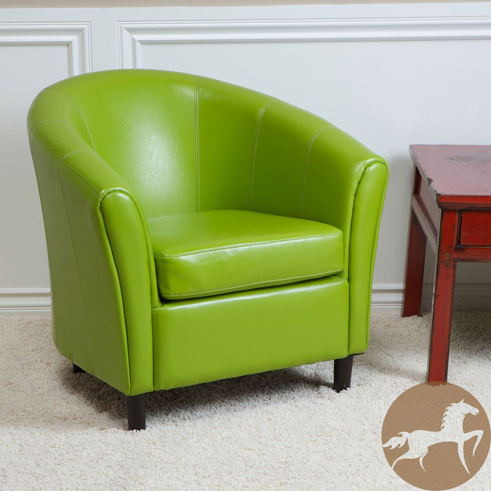 Living Room Accent Chairs 2 Christopher Knight Home Sherri Lime Green Bonded Leather Chair