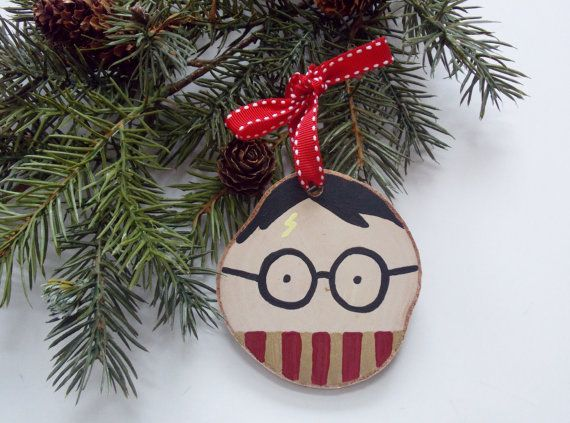 Harry Potter Ornament Wood Slice Ornament by BugabooBearDesigns, $9.00