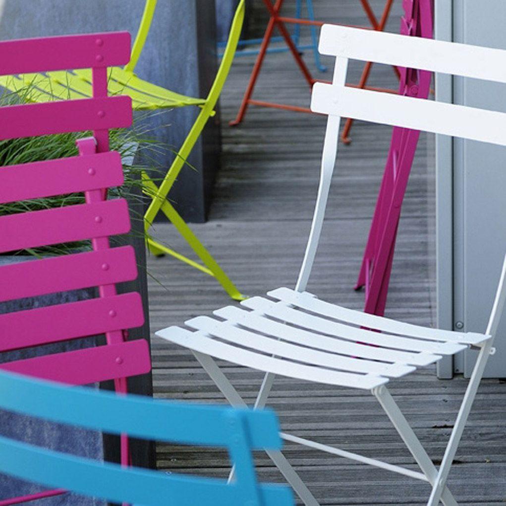 Chaise de jardin Bistro fuchsia FERMOB | Leroy Merlin | Home | Pinterest