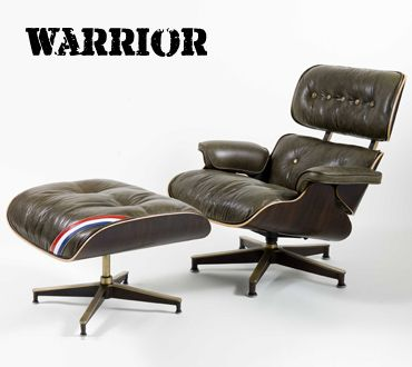 Exceptional Warrior Eames Lounge Chair And Ottoman. Reupholstered By Hume Modern.
