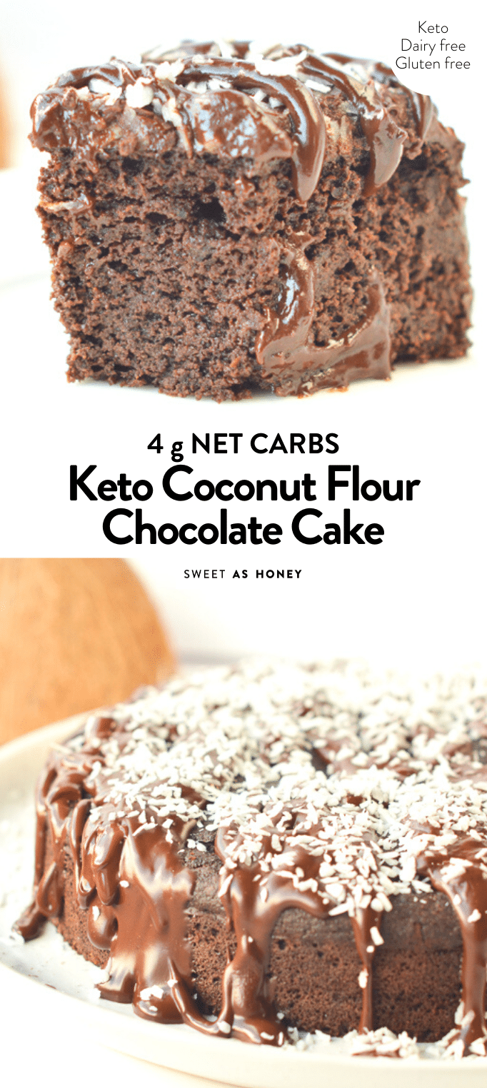 Photo of Coconut flour chocolate cake – keto + paleo – Sweetashoney
