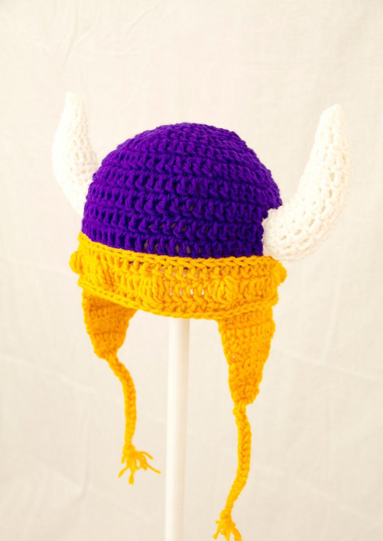 Vikings Earflap Hat in Purple and Gold Minnesota by GeekinOut ...