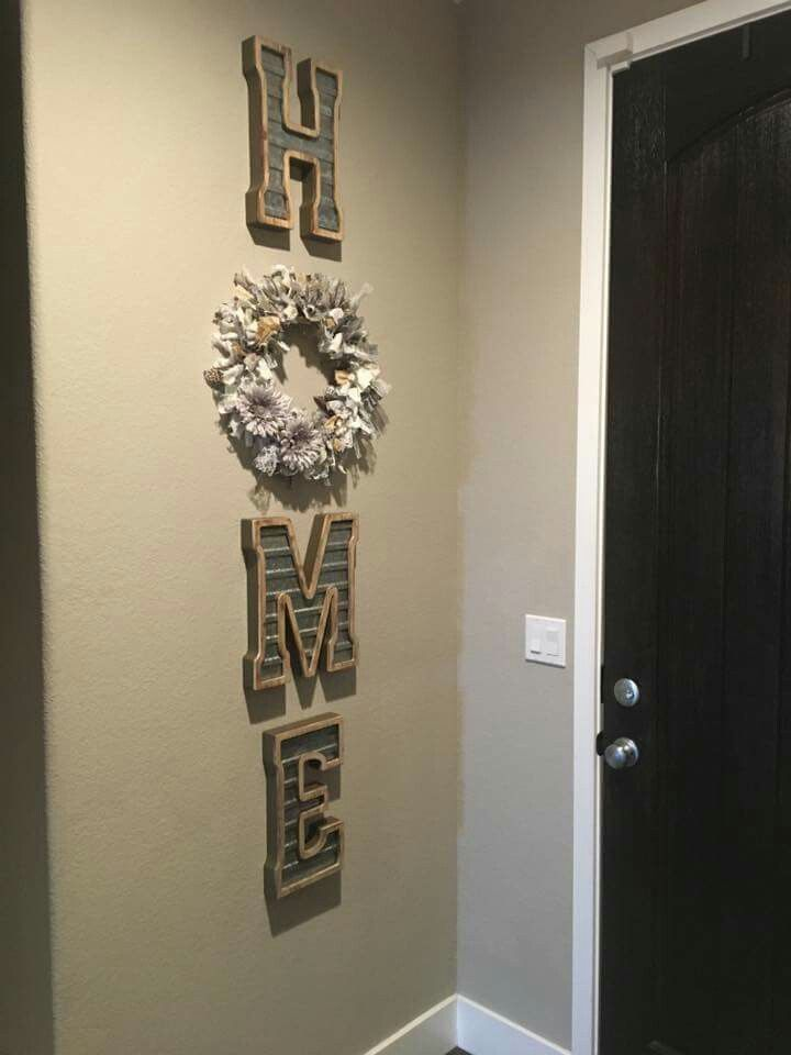 Letters From Hobby Lobby Crafty Me Home Decor Diy