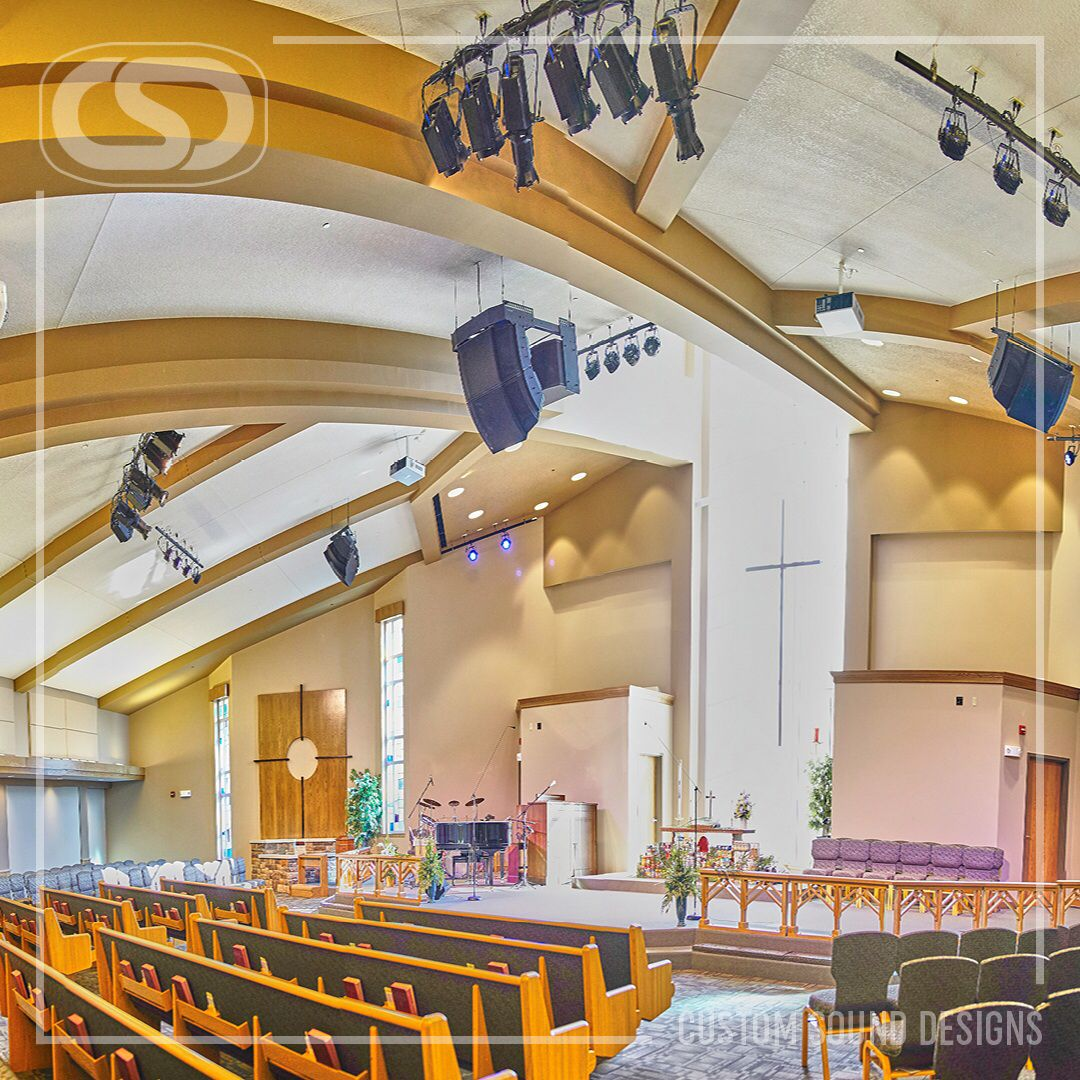 A beautiful new sanctuary with Bose RoomMarch audio emerged from the ashes for Taylor Chapel UMC. www.CSDus.com