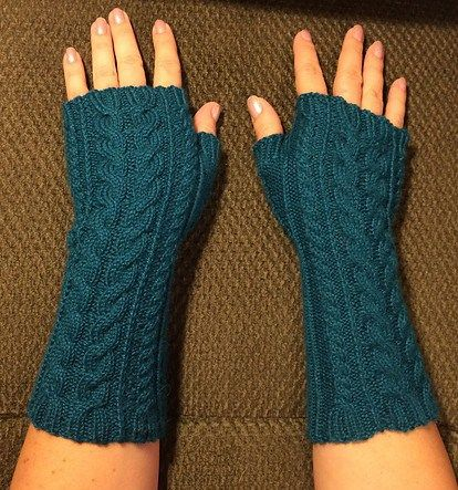 Free knitting pattern for Yummy Mummy Wristwarmers with ...