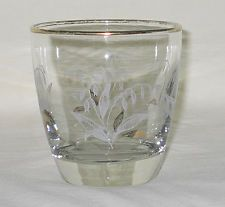 Libbey Lily of the Valley Design 8-oz Flat Glass