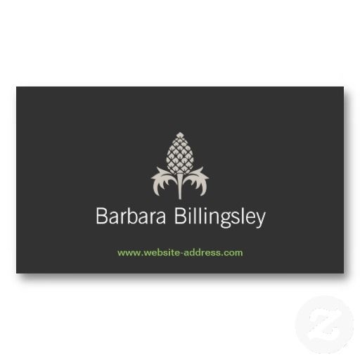Vintage pineapple logo customizable business card for interior designers