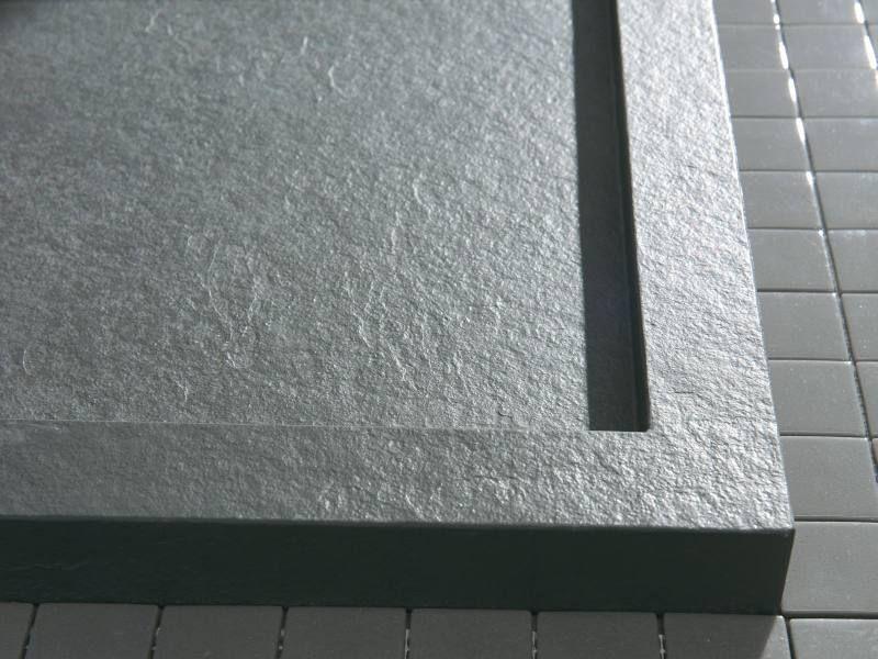 Begehbare Dusche Mit Duschrinne 120x90 Aus Mineralguss