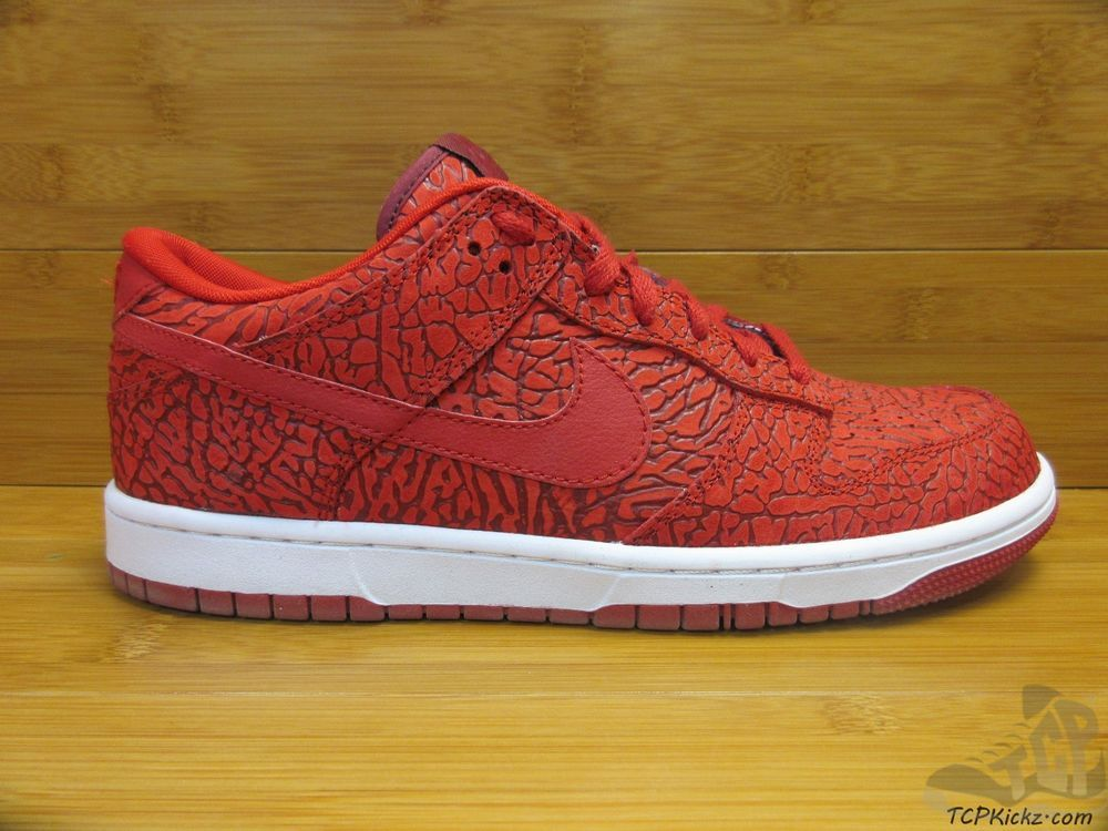 buy online 6e3c4 20fb6 Nike Air ID Dunk Low PRM ELEPHANT PRINT sz 9.5 IX Limited Rare True Red  White  Nike  AthleticSneakers
