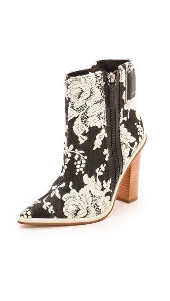 8a73df6d1 Tibi Brigid Brocade Booties Cinderella Shoes