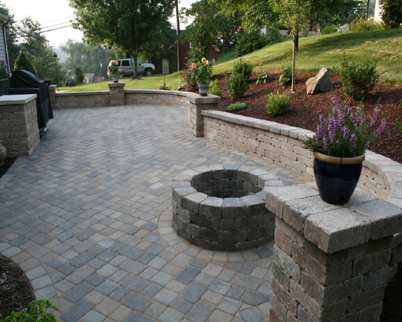 Beautiful Cement U0026 Concrete Interlocking Stone Pavers | Patios U0026 Driveways
