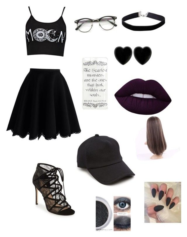 """""""Untitled #8"""" by beeneyhead on Polyvore featuring Chicwish, Pour La Victoire, rag & bone, Miss Selfridge, Dollydagger and Lime Crime"""