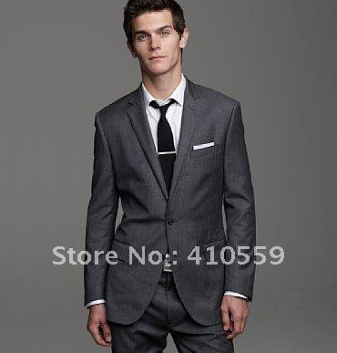dark gray suits with a pocket square | Good Fashion, Good Looks