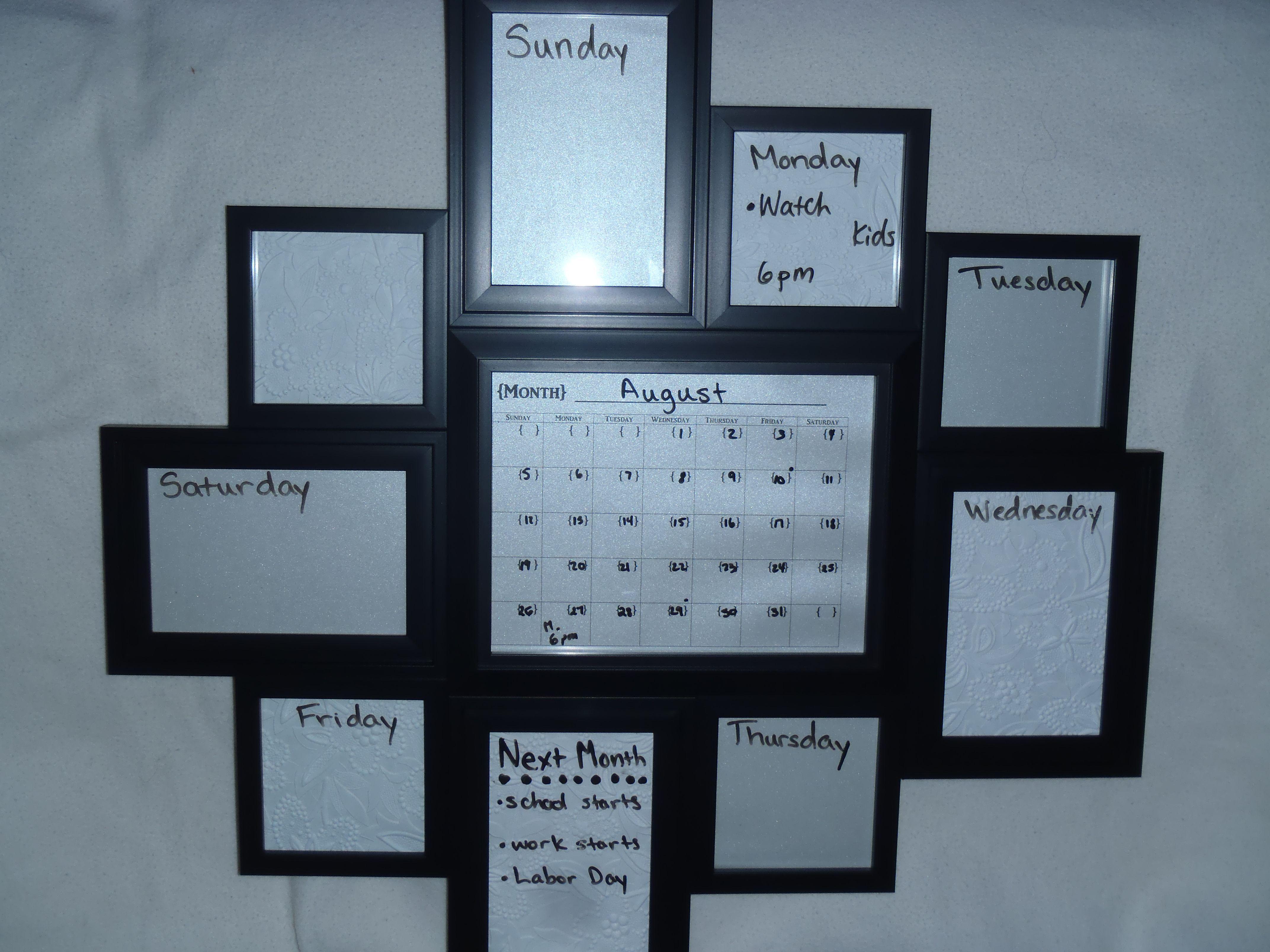 DIY Family Calendar and weekly reminder board.  DIY Family Calendar and weekly r...  DIY Family Calendar and weekly reminder board.  DIY Family Calendar and weekly reminder board.  #Bo #Board #calendar #DIY #Family #reminder #Weekly