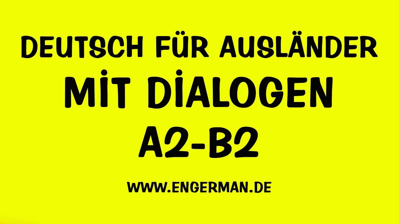 Deutsch Fa R Ausla Nder Deutsch Lernen Mit Dialogen Youtube Youtube German Language Medical Terminology