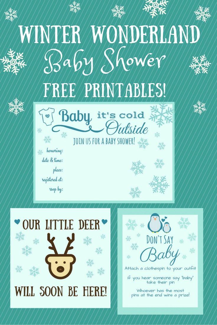 Free Winter Wonderland Baby Shower Printables Winter
